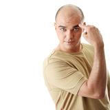 Man with funny facial expression Stock Photography