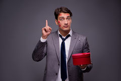The man in funny romantic concept Stock Images