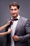 The man in funny romantic concept Royalty Free Stock Image