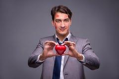 The man in funny romantic concept Stock Photos