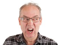 Man is Enraged about Something. A man is furious about something royalty free stock photography