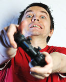 Man with game pad. Stock Images