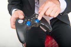 Man and gaming Royalty Free Stock Photo
