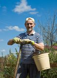 A man in the garden Royalty Free Stock Images
