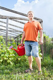 Man in garden Royalty Free Stock Photo