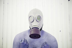 Man with gas chamber Royalty Free Stock Images