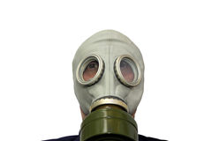 Man in gas-mask Royalty Free Stock Photos
