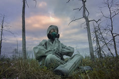 Man in a gas mask Royalty Free Stock Photos