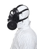 Man with gas mask royalty free stock image