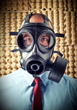 Man with gas mask Royalty Free Stock Photography