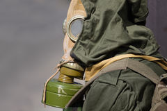 Man in gas mask. Portrait of man in gas mask Royalty Free Stock Images