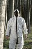 Man with gas mask Stock Photography