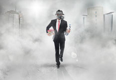 Man with gas mask Royalty Free Stock Images