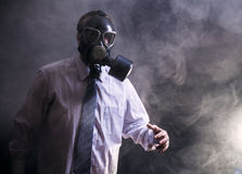Man in a gas mask Royalty Free Stock Photography