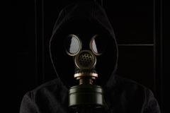 Man with gas mask. Royalty Free Stock Images