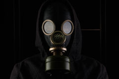 Man with gas mask. Royalty Free Stock Photography