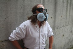 Man in gas mask Stock Image
