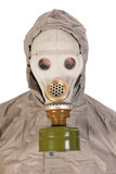 Man with gas mask in close up Stock Images