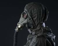 The man in a gas mask Royalty Free Stock Image