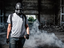 Man in gas mask Stock Photography