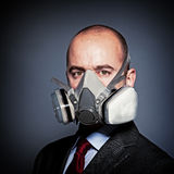 Man with gas mask Stock Photos