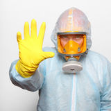 Man in gas mask. Stock Images