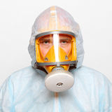 Man in gas mask. Stock Photography