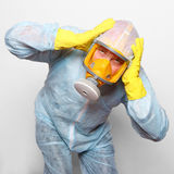 Man in gas mask. Royalty Free Stock Photo