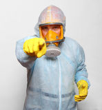 Man in gas mask. Stock Photos