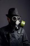 Man in gas mask Royalty Free Stock Photos