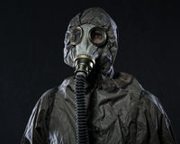 The man in a gas mask Royalty Free Stock Photography