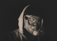 Man with gas mask Royalty Free Stock Photos