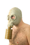 Man with gaz mask Stock Photos