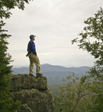 A Man Gazes at the Mountain Horizon Royalty Free Stock Photo
