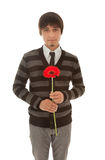 Man with gerbera Royalty Free Stock Photography