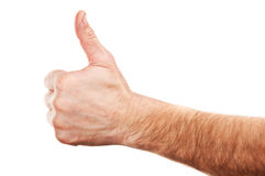 Man gesture Stock Images