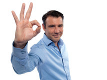 Man gesture okay Royalty Free Stock Photography