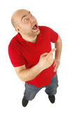 Man gesture portrait Stock Image