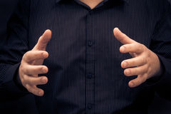 Man gesture showing size something Royalty Free Stock Photo