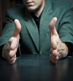 Man gestures Royalty Free Stock Image