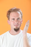 Man Gestures a Slap Royalty Free Stock Photography