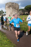 Man gesturing during Marathon of the Epiphany, Rome, Italy Royalty Free Stock Photo