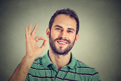 Man gesturing OK sign Royalty Free Stock Photography