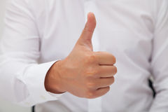 Man Gesturing Ok Sign Royalty Free Stock Images