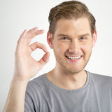Man gesturing OK sign Stock Photos