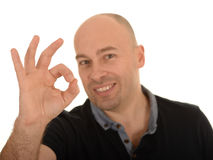 Man gesturing okay Stock Photos