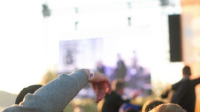 Man Gesturing in the Rhytm. Man dancing in the rhytm of music, gesturing with his hand stock video footage
