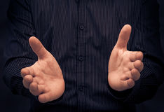Man gesturing speech showing Stock Images