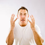 Man gesturing in surprise Royalty Free Stock Photography