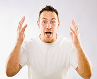 Man gesturing in surprise Royalty Free Stock Photo